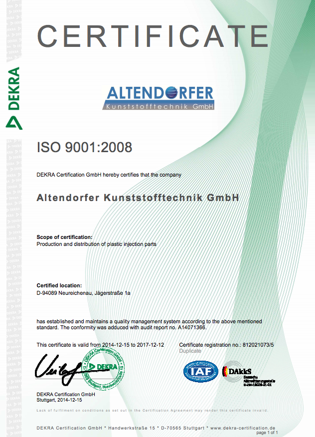 ISO 9001:2008 Altendorfer Kunststofftechnik - english